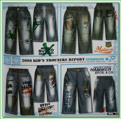 法国童装牛仔裤设计手稿(二)