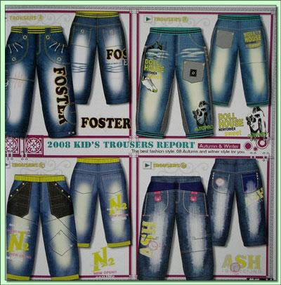 法国童装牛仔裤设计手稿(一)