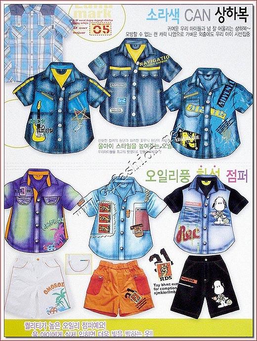 2008韩国春夏童装牛仔服装系列设计手稿(图)2