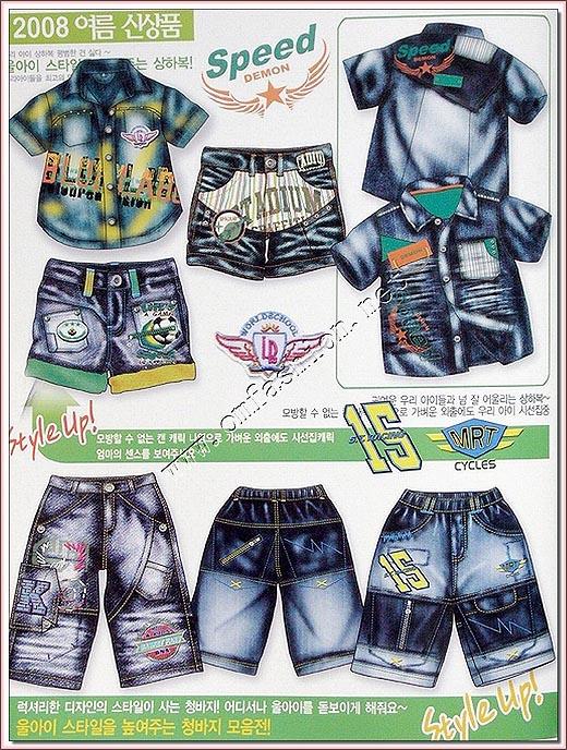 2008韩国春夏童装牛仔服装系列设计手稿(图)1