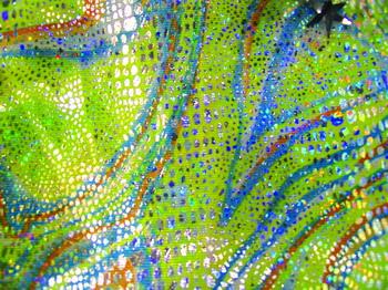 装饰方法包括织造,印花,刺绣,植绒,烫金,砂洗等,赋予了面料华丽,闪动