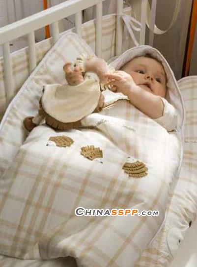 甜美可爱 catimini婴儿床(2)