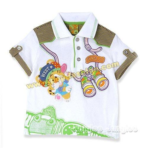 韩国阳光可爱男童短袖t恤(2)_中国童装网