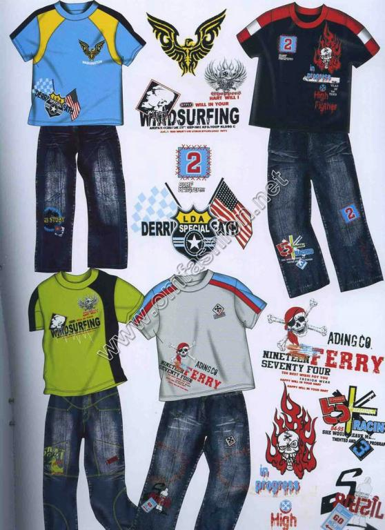 2008意大利童装t恤牛仔裤设计手稿(2)