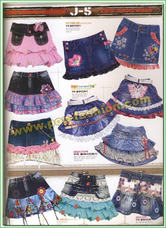 j-5 2008春夏童装可爱牛仔裙裤设计手稿(下)