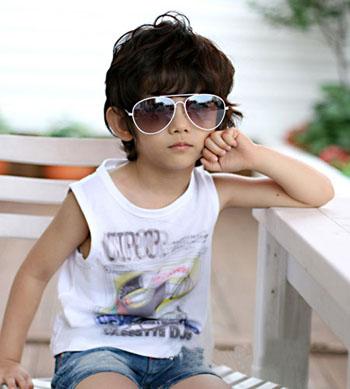 帅气男孩夏季时尚装扮