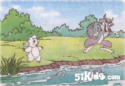 狼和小羊简笔画_大灰狼和七只小羊注音版格林原作照沼真理