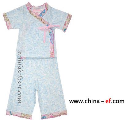 几款欧美童装睡衣款式设计图